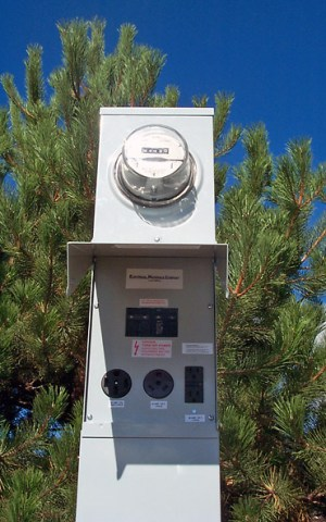RV Power Pedestals with Meter Compartments | Electrical Materials Company