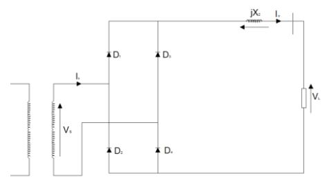 Single phase full wave bridge rectifier