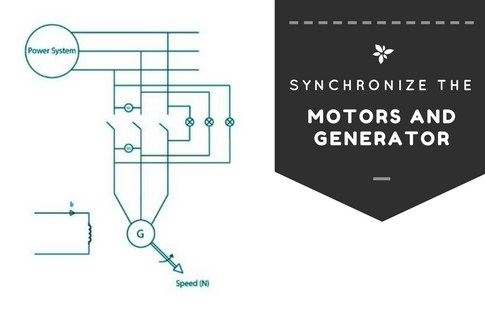 How to Synchronize Synchronous Motors and Generator to Power System