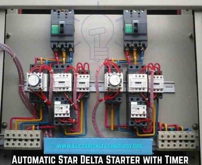 star delta starter  yΔ starter power control  wiring