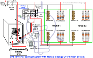 Manual & Auto UPS  Inverter Wiring Diagram with