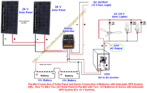 How To Wire Two 24V Solar Panels in Parallel with Two, 12V