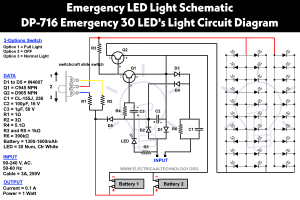 Emergency LED Lights Powerful & Cheap LED716 Circuit