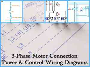 Three Phase Motor Power & Control Wiring Diagrams