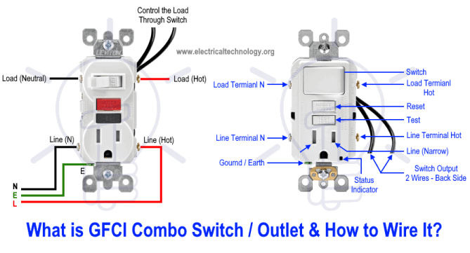 light switch and gfi wiring diagram  electric table lamp