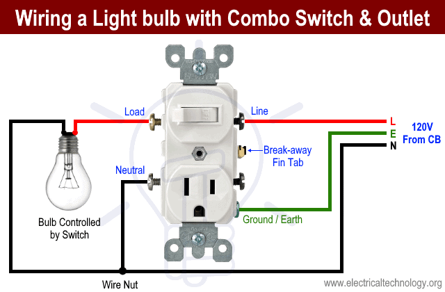 how to wire combo switch  outlet combo device wiring