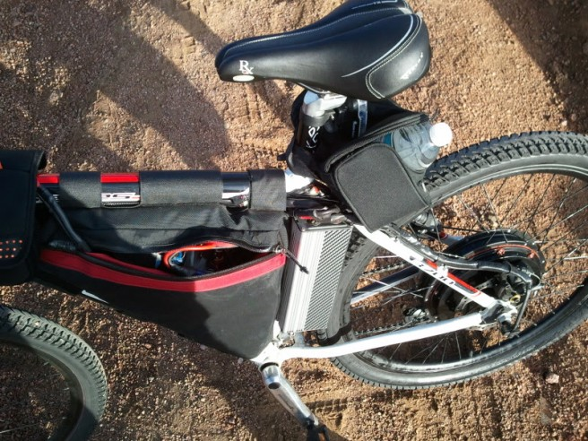Itchynackers Pikes Peak 100V bicycle with a 9C rear hub and an 18-FET controller