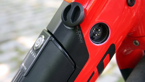 The Rosenberg RoPD charging socket on a Specialized Turbo Ebike