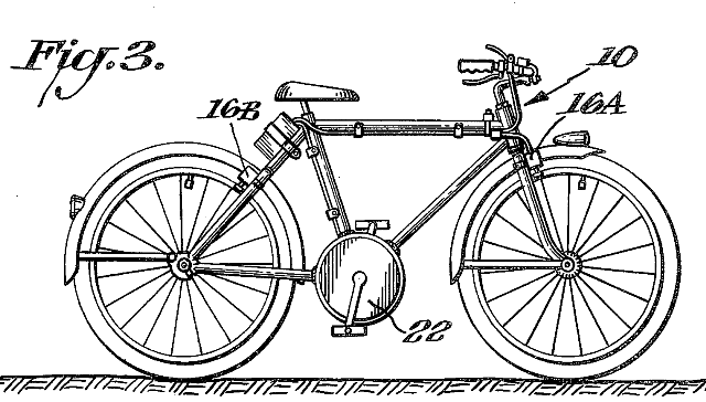 Electric Bike History, patents from the 1800's Patent14