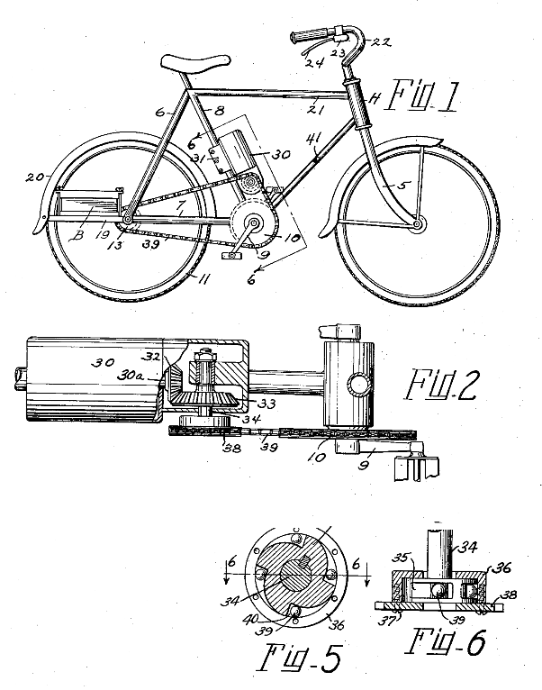 Electric Bike History, patents from the 1800's Patent18