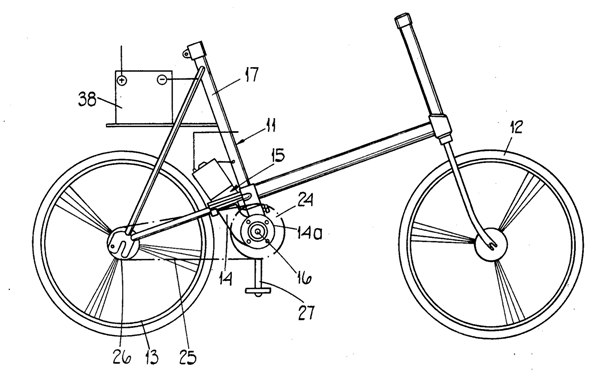 Electric Bike History, patents from the 1800's Patent19