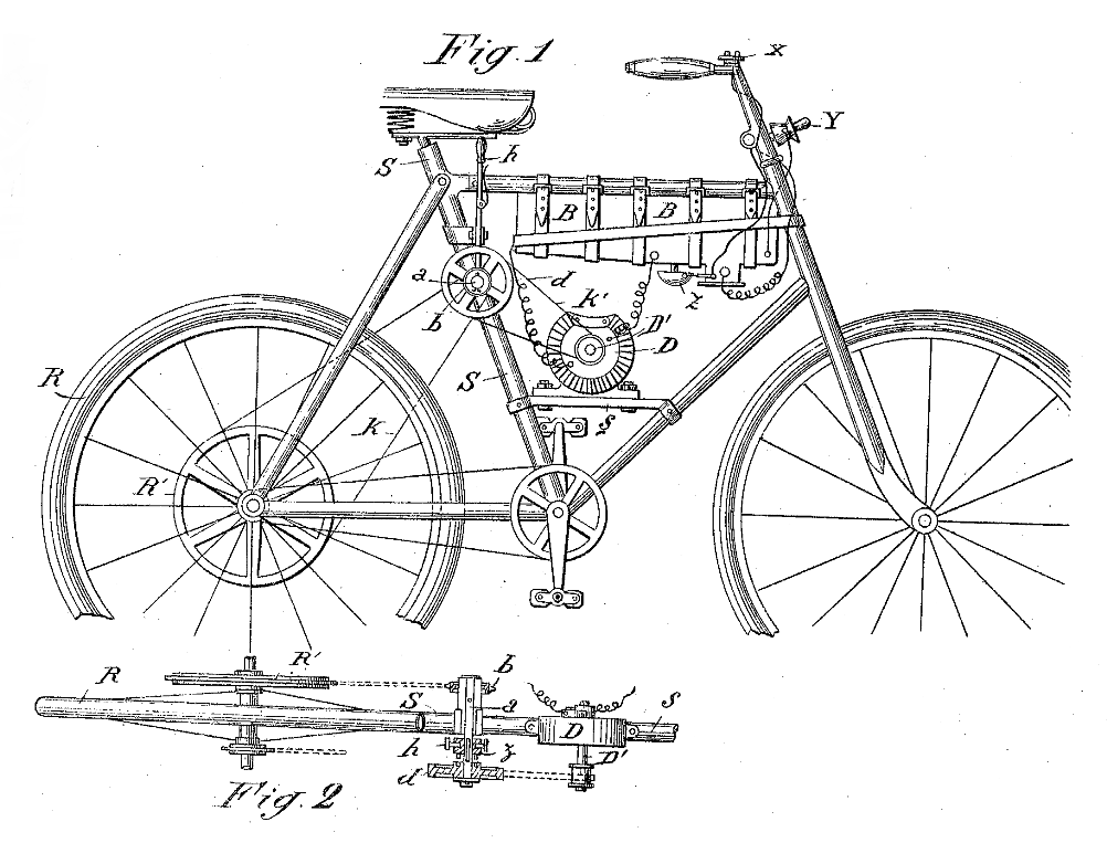 Electric Bike History, patents from the 1800's Patent9