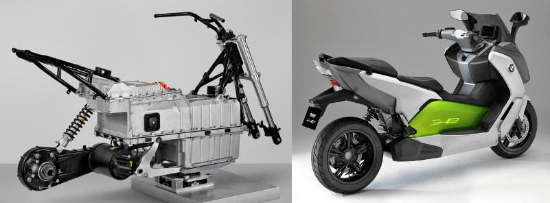 "The BMW ""C Evolution"" electric scooter."