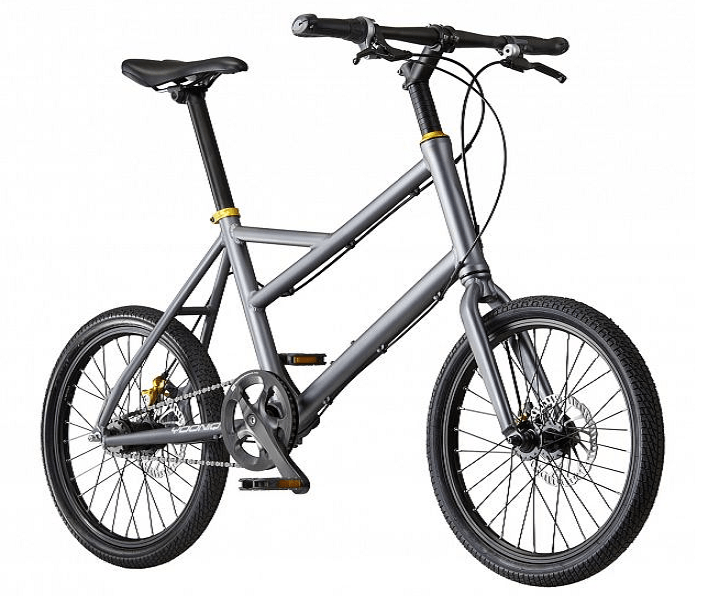 The Yooniq also uses 20-inch wheels. The head tube might be too long to swap-in a suspension fork, but the long head tube also allows a very large rectangular battery pack to be mounted in the center of the frame.