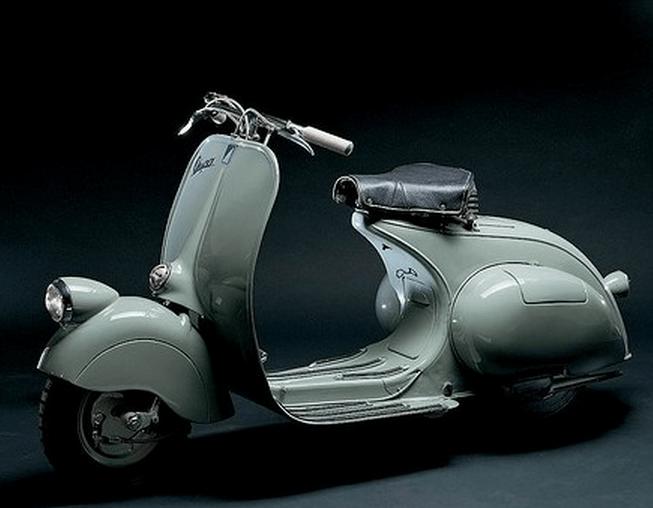 The classic Piaggio Vespa