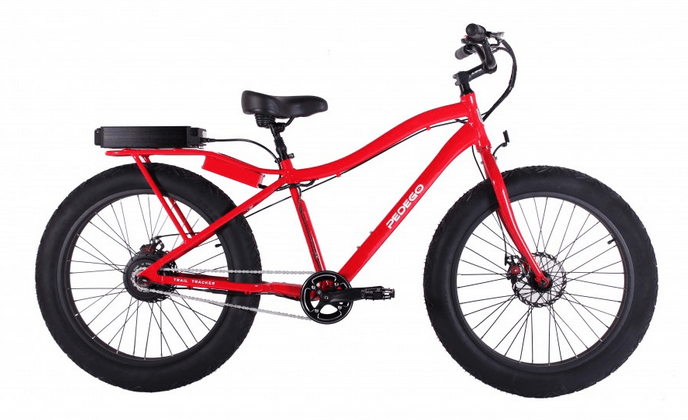 "Pedego was the largest sing;e-brand retailer of E-bikes in North America in 2014, so it is significant when they begab carrying the ""Trail Tracker"" E-fatbike."