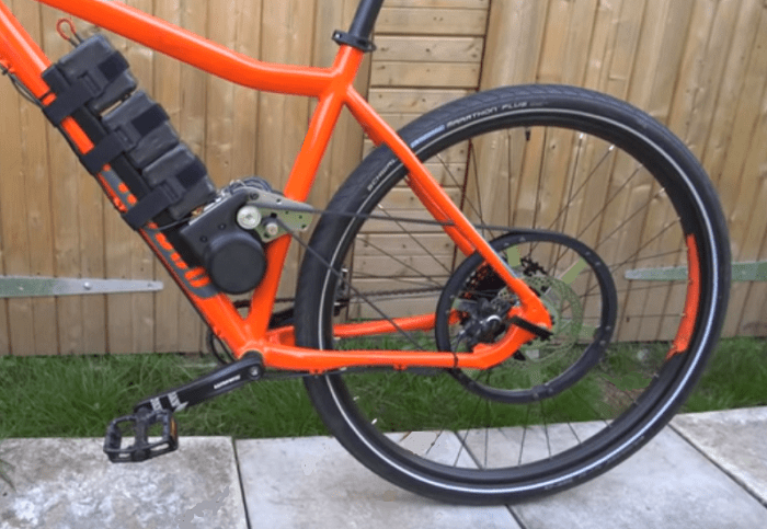 A custom ebike made from RC components and 3D-printed parts