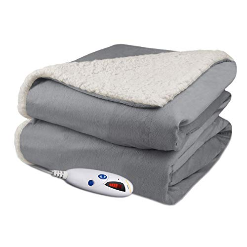 "62 x 84/"" Hunter Green Biddeford Comfort Knit Electric Heated Blanket Twin Size"