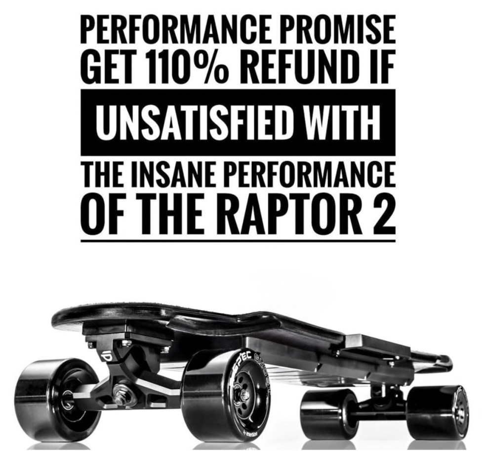 Enertion Raptor 2 Electric Skateboard Guarantee