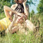 women on grass