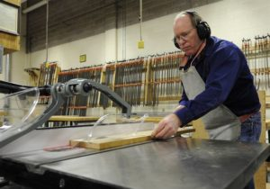 man using table saws
