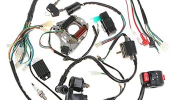 minireen full wiring harness loom kit cdi coil magneto kick start engine  for 50cc 70cc 90cc