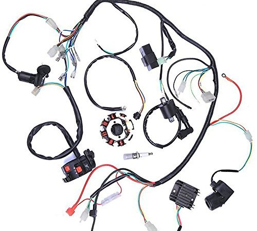 wphmoto complete electrics wiring harness stator coil cdi wire loom for  150cc-300cc atv quad four wheelers go kart dirt pit bikes | electric go-kart  shop