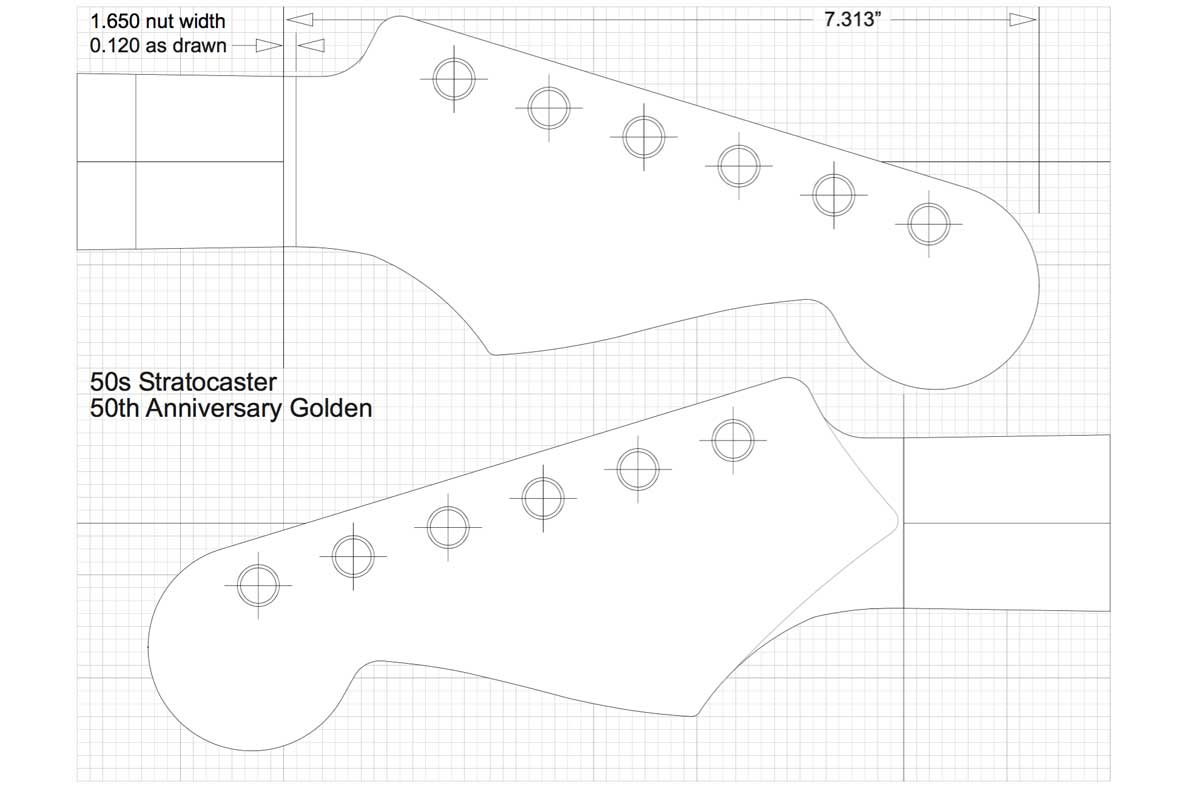 Guitar Headstock Template Stratocaster Headstock Template