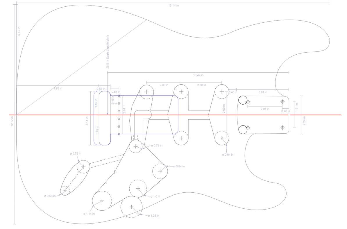 Fender Stratocaster Body Template