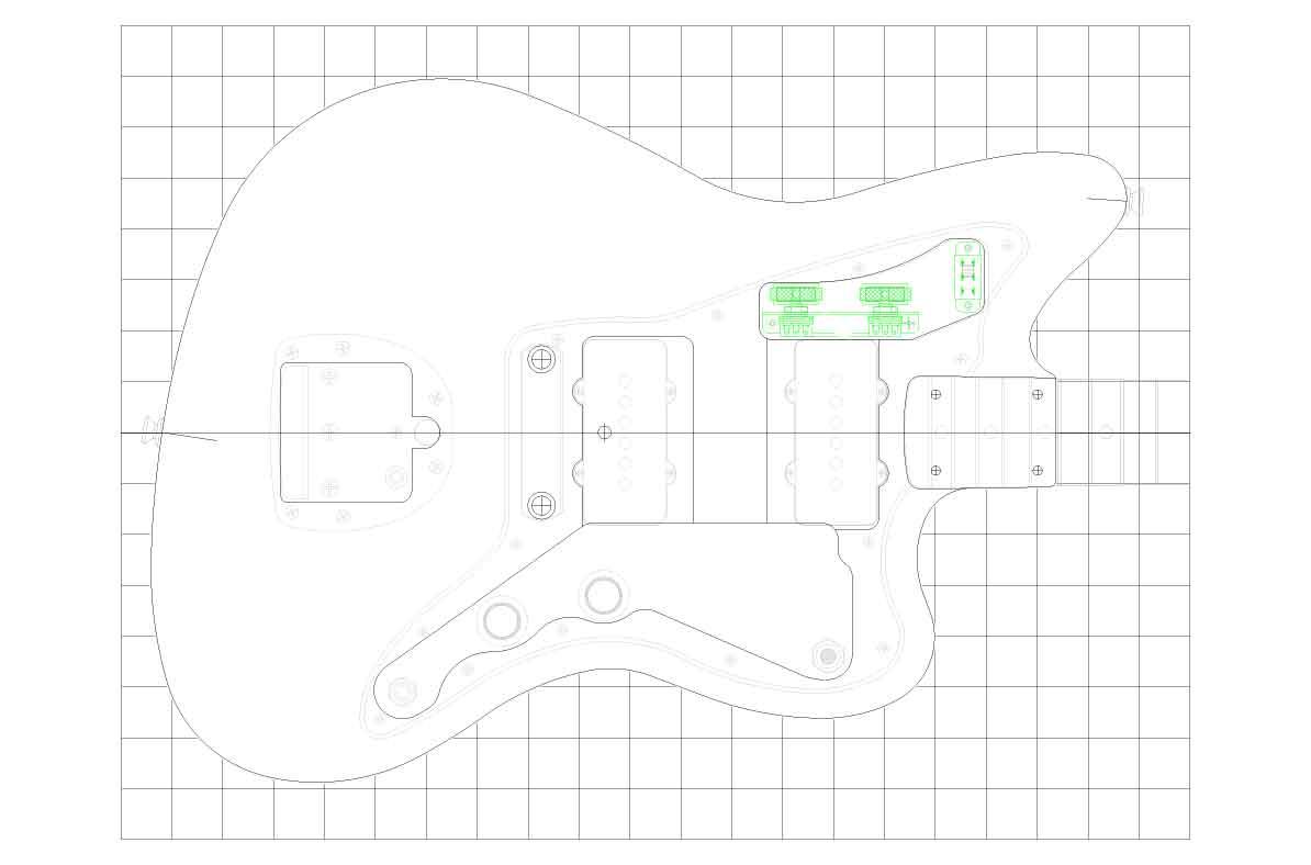 Fender Jazzmaster Guitar Templates