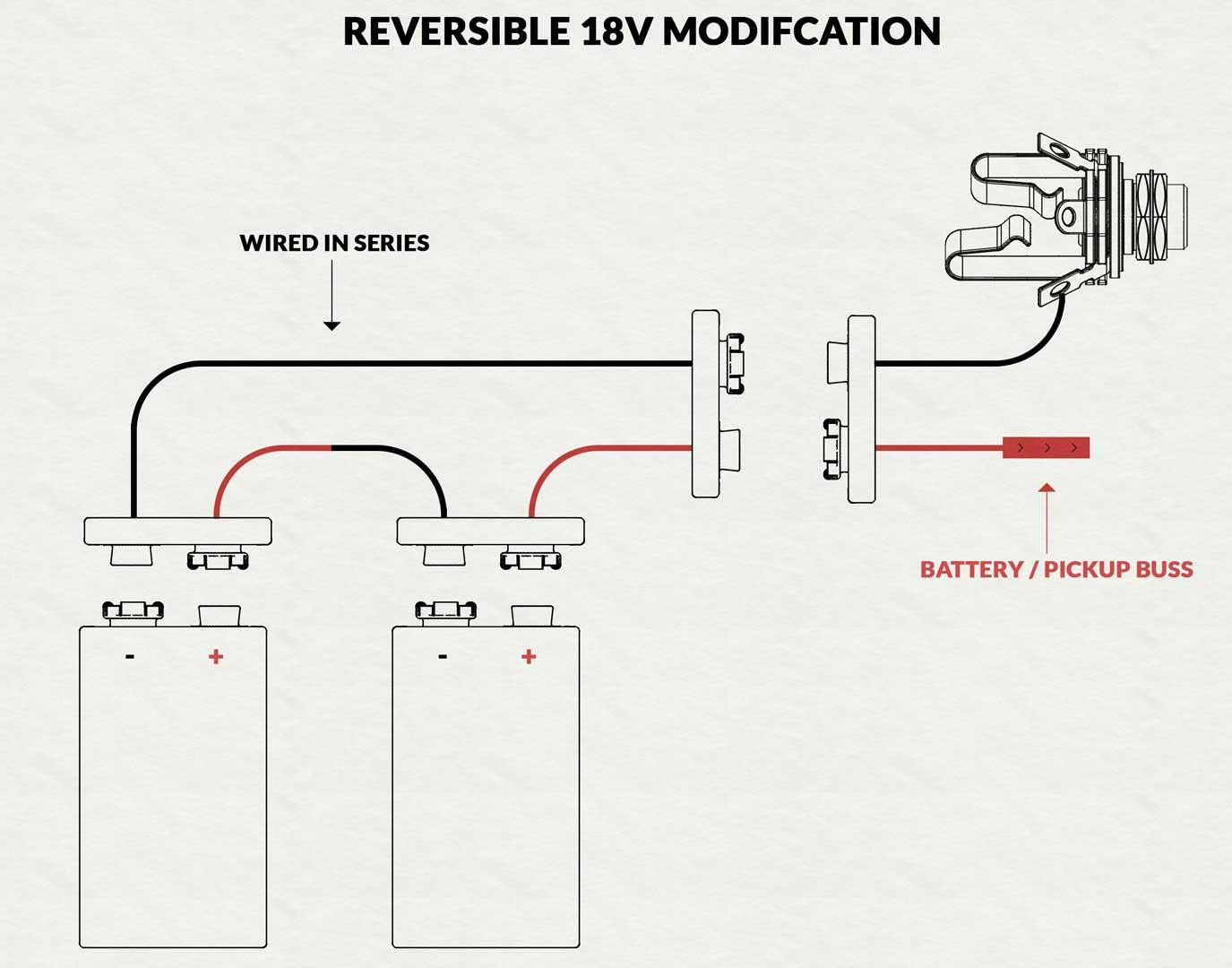 18v Battery Modification For Active Pickups