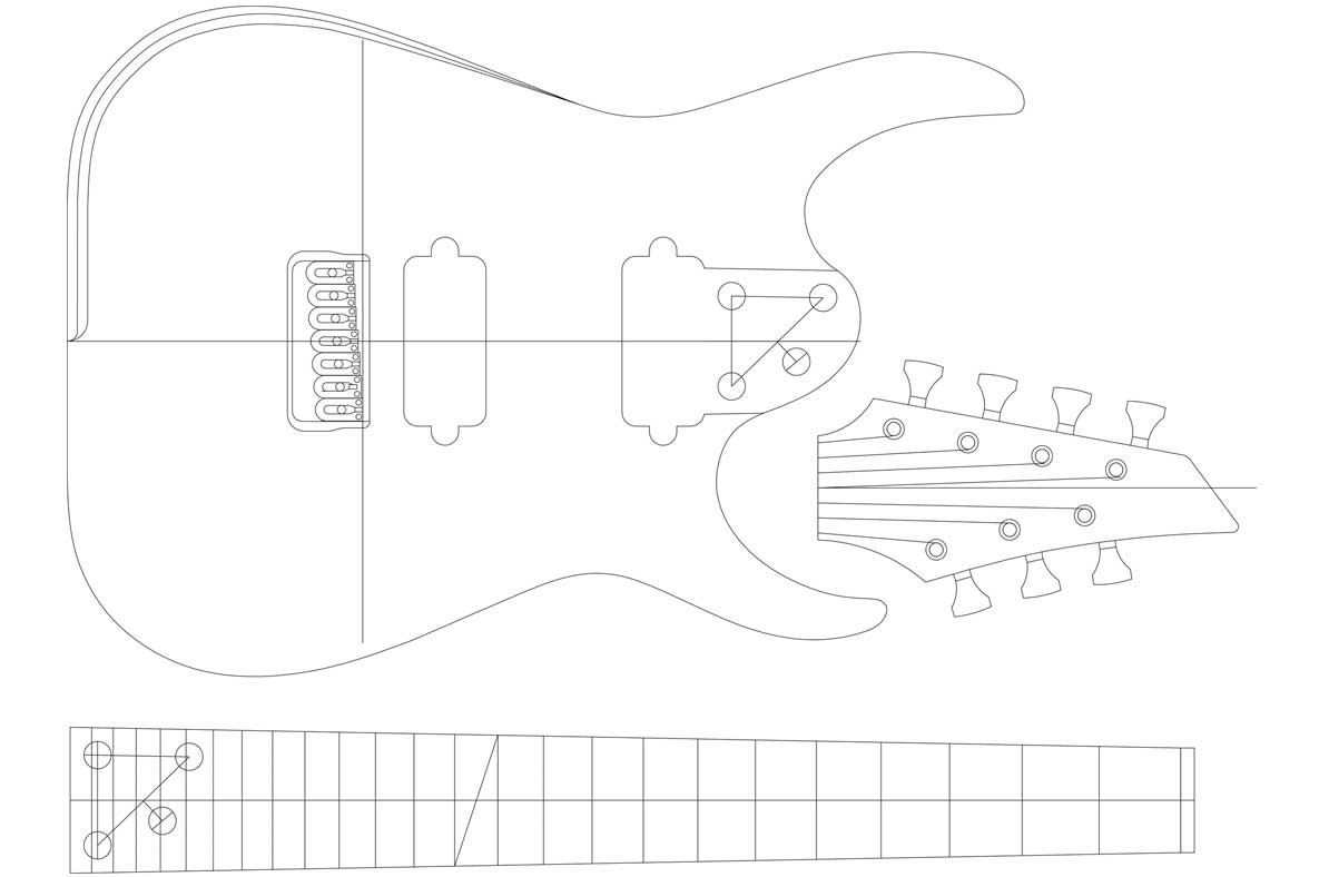 Blackmachine B7 7 String Template