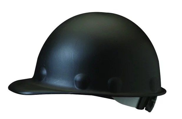 fibre metal half brim hard hat