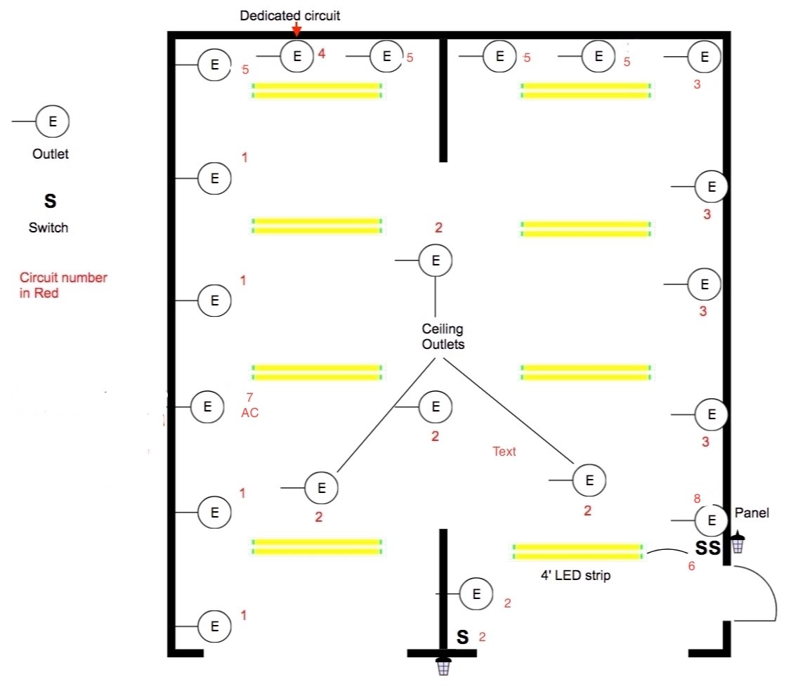 lighting layout in garage electrician