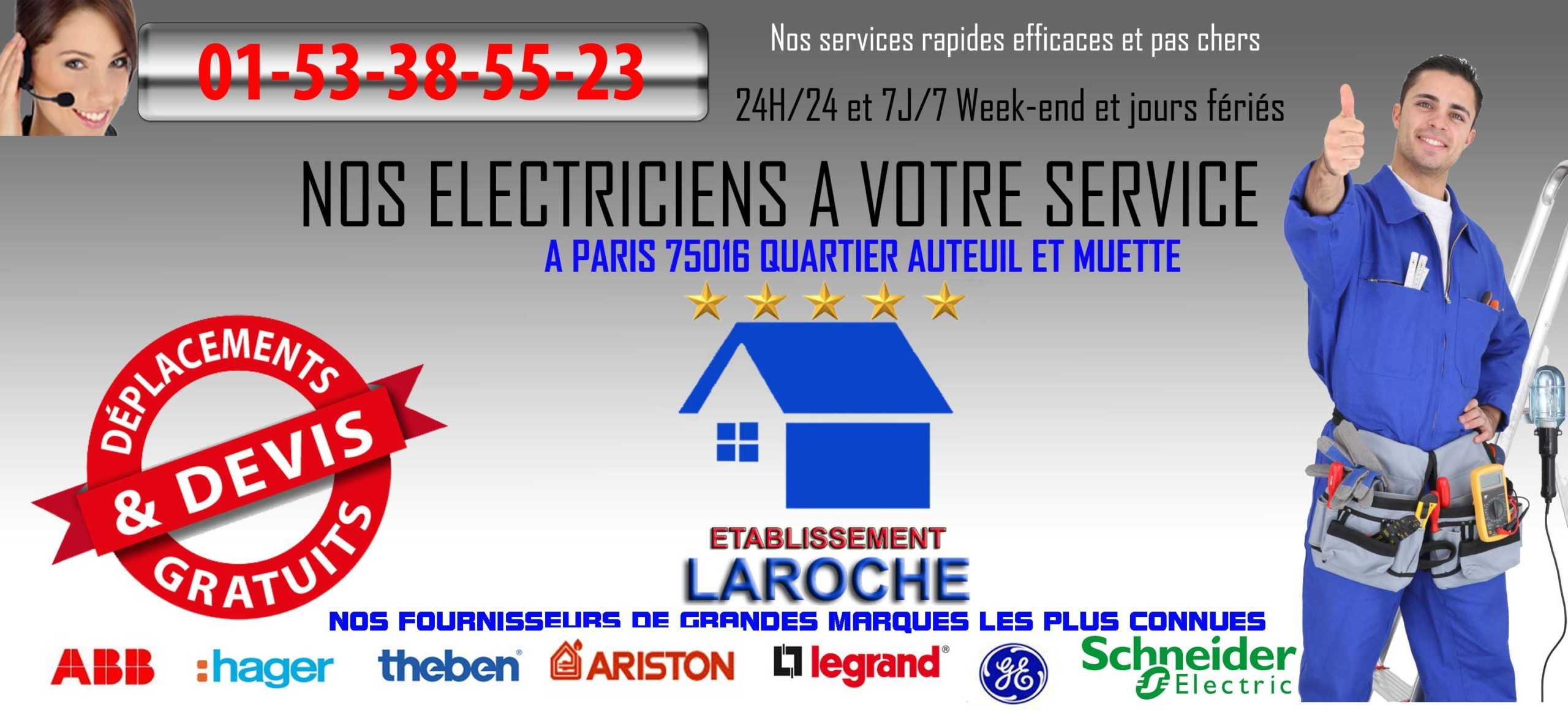 electricien paris 75016