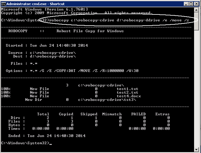 Command Prompt Examples