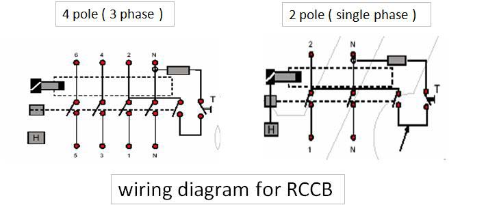 rccb pole?resized665%2C281 2 pole rccb connection diagram efcaviation com 2 pole contactor wiring diagram at virtualis.co