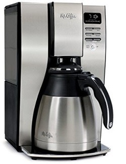 Mr. Coffee 10 Cup Optimal Brew Thermal Coffee Maker, Stainless Steel, PSTX95