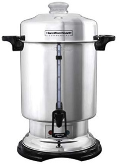 Hamilton Beach D50065 Commercial 60-Cup Stainless-Steel Coffee Urn, Silver