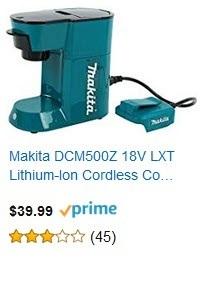 Makita DCM500Z 18V LXT Lithium-Ion Cordless Coffee Maker