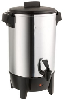 West Bend Party Perk Coffee Urn 30-Cup, Silver