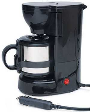 Roadpro 12-Volt Quick Cup Coffee Maker with 16 oz. Metal Carafe