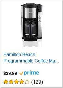 4 HAMILTON BEACH PROGRAMMABLE COFFEE MACHINE