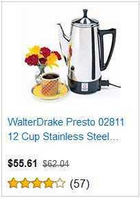 5 WALTERDRAKE PRESTO 12 CUP COFFEE MAKER