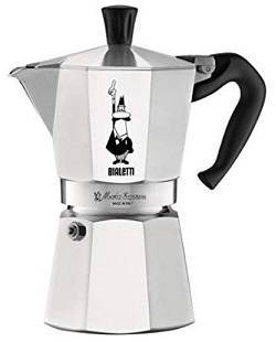 Bialetti The Original Moka Express - 6 Cup Stovetop Coffee Maker with Safety Valve - Brews 9.2 Ounces
