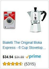 1a Bialetti Original Moka Express 6-cup