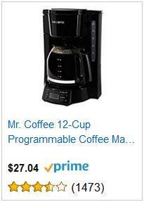 1a Mr Coffee 12-cup Programmable Coffee Maker