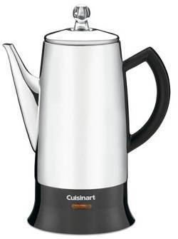Cuisinart PRC-12 Classic 12-Cup Stainless-Steel Percolator, Black Stainless