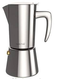 9A bonVIVO Intenca Stovetop Espresso Maker, Italian Espresso Coffee Maker