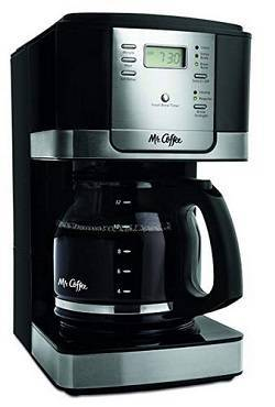 9a Mr. Coffee JWX27-NPA 12-Cup Progammable Coffeemaker, Black